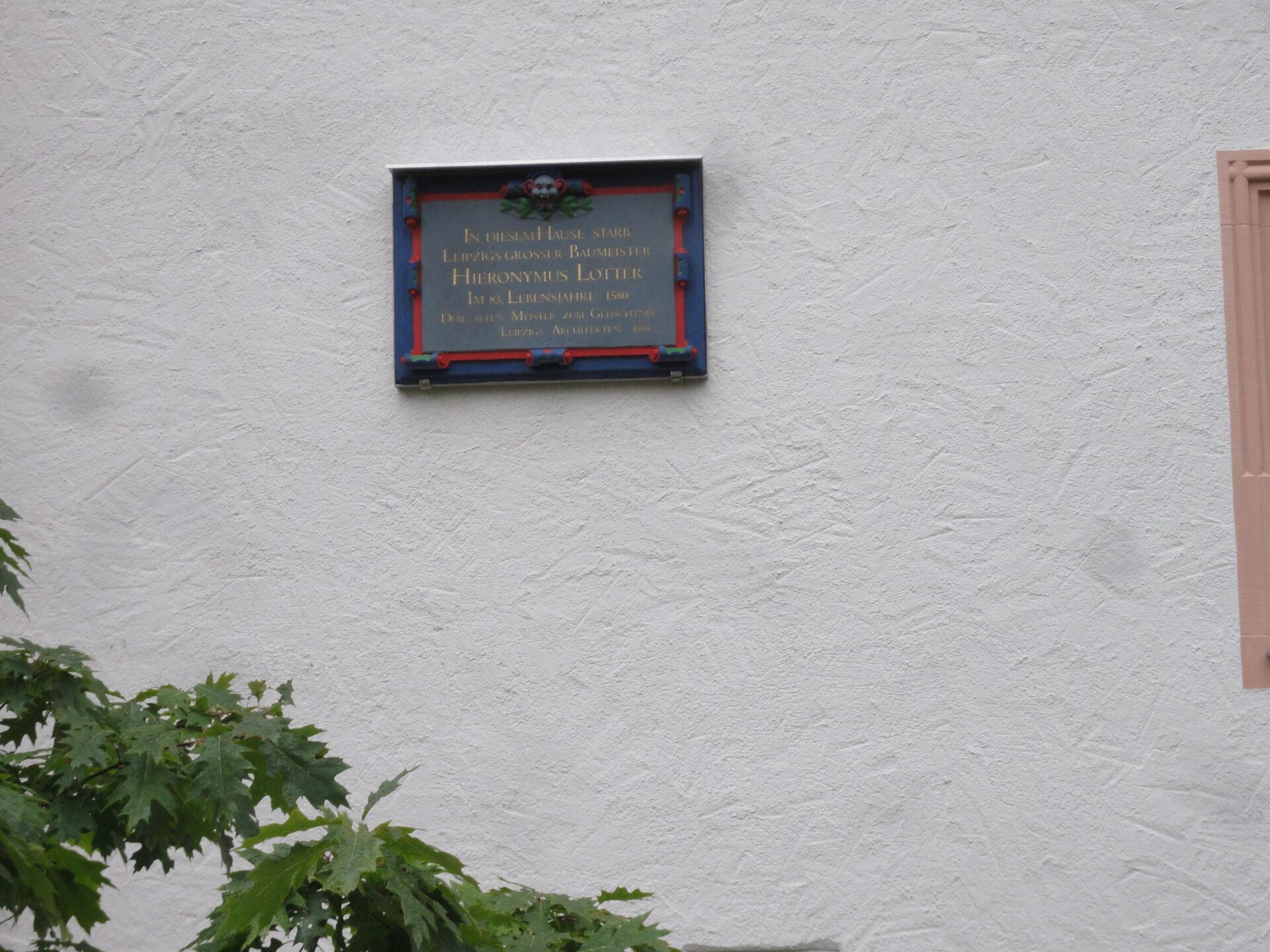 Gedenktafel für Hieronymus Lotter