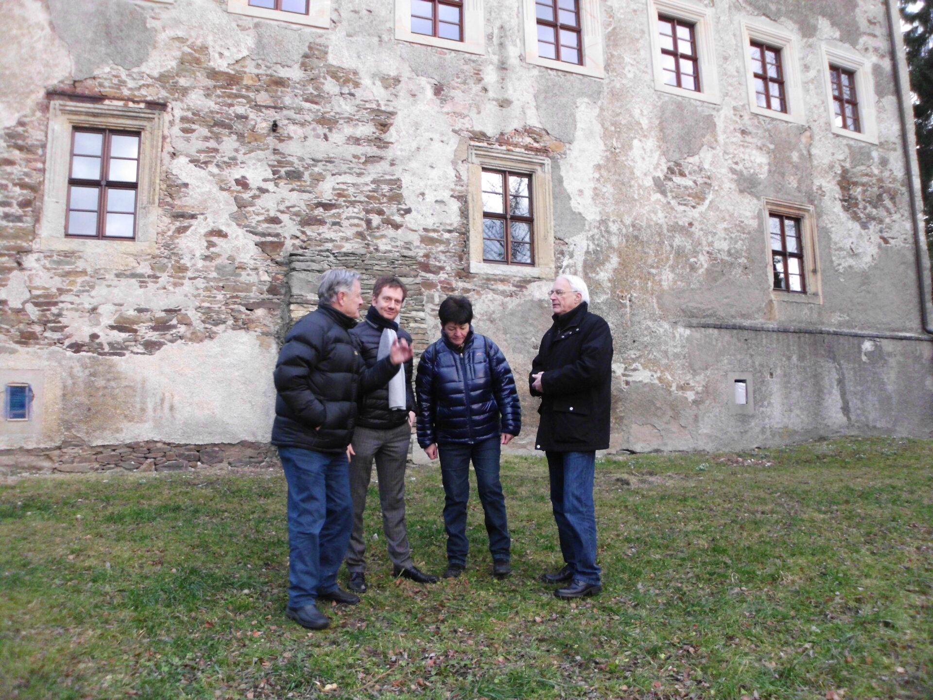 Besuch des damaligen Generalsekretär der CDU Michael Kretschmer und des Bundestagsabgeordneten Günther Baumann, zur tatkräftigen Unterstützung bei der Beschaffung von Fördermittel