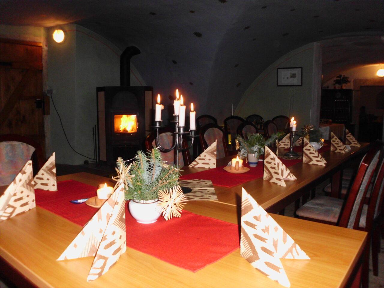 Logenraum weihnachtlich